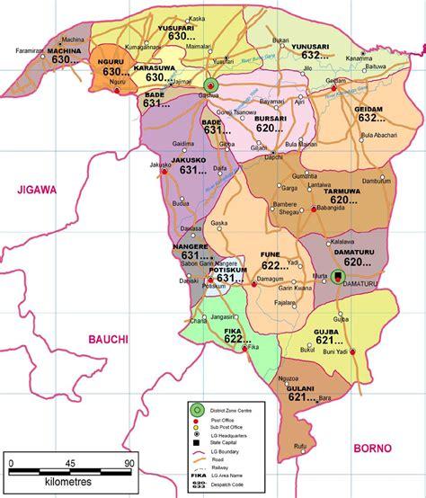 us government area code yobe state zip code map