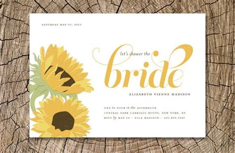 Sunflower Themed Bridal Shower Ideas by Sunflower Bridal Shower Easyday