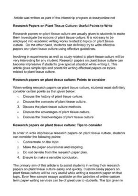 research paper on plants calam 233 o research papers on plant tissue culture useful