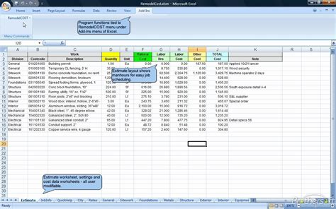 construction estimate excel template best photos of construction estimating excel spreadsheet