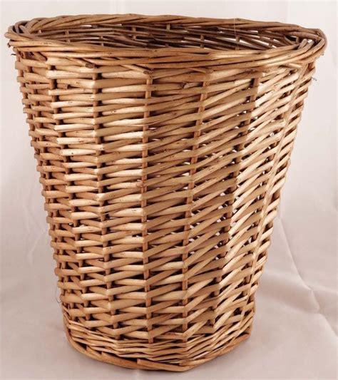 waste paper basket brown wicker willow basket bin storage waste paper rubbish