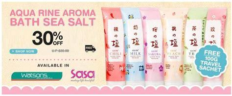 Special Aqua Rine Milk Japanese Aroma Bath Sea Salt 400gr 3 offer japan aqua rine aroma bath sea salt free travel pack 50g x 2 sachet for every