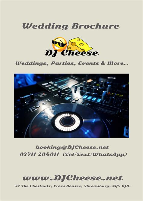 Wedding Dj Brochure by New Wedding Dj Brochure Available For Mobile
