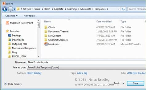 Office 2010 How To Save Files As Templates 171 Projectwoman Com How To Save A Powerpoint Template
