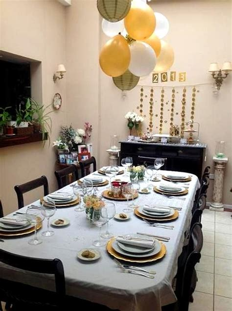 ideas  decorar comedores en noche vieja ano nuevo