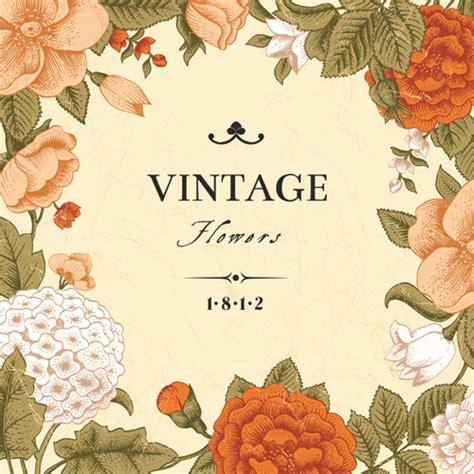 design art vintage vintage flower design background art free vector in