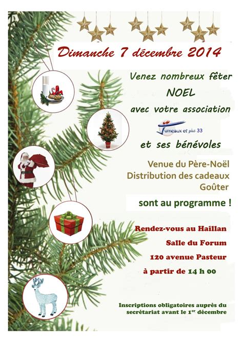 Exemple Lettre D Invitation De Noel Modele Invitation Noel Document