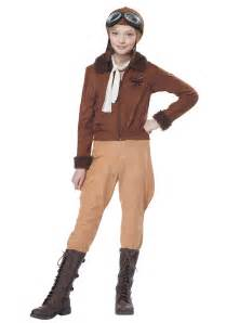 Child amelia earhart aviator costume