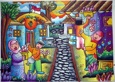 Lukisan Bunga Kg31 Bmc gambar pemandangan lukisan toko fd flashdisk flashdrive