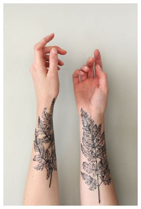 nature wrist tattoos amazing leaf wrist like repin follow