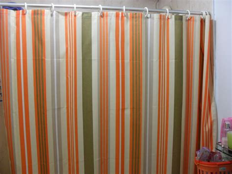 orange and blue striped curtains orange striped curtains orange striped shower curtain by