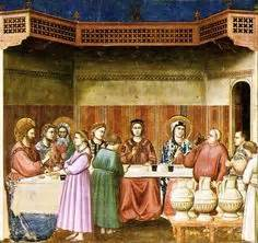 Wedding At Cana Giotto by Catholic Teaching The Wedding At Cana Is Jesus