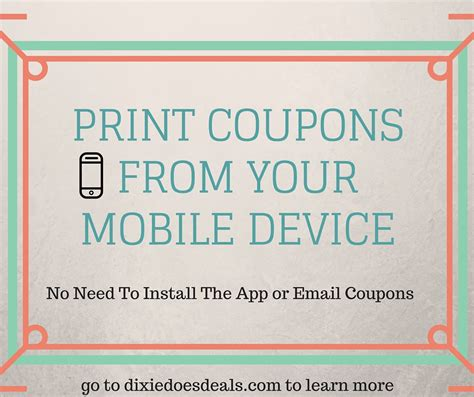 printable grocery coupons without installing coupon printer hot print coupons from your mobile device