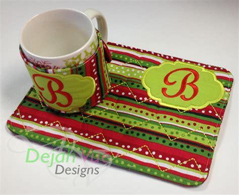 mug rug ideas ith mug rug and wrap set