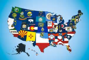 us map state flags flags of the us map