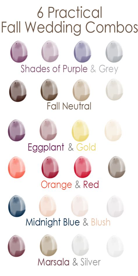 name changing a practical wedding blog ideas for the fall wedding color schemes