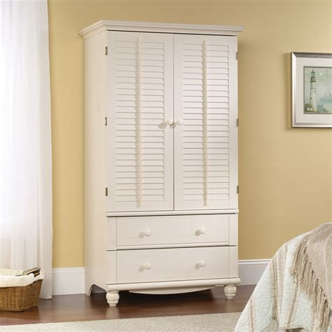 sauder white armoire harbor view armoire 158036 sauder