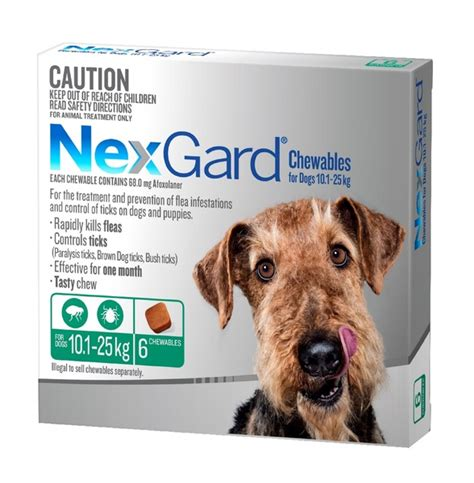 nexgard chewables for dogs nexgard chewables for dogs 10 1 25kg ebay