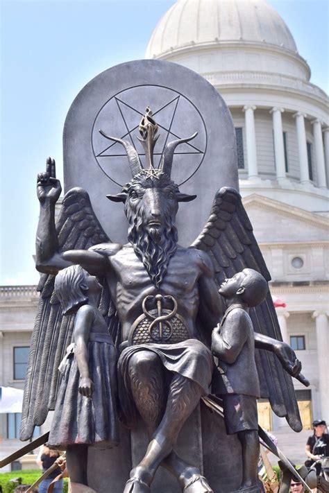 baphomet illuminati satanic temple unveils a goat headed baphomet statue in