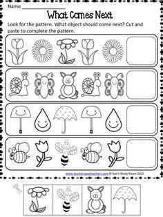 spring pattern worksheets for kindergarten patterns spring patterns worksheets worksheets