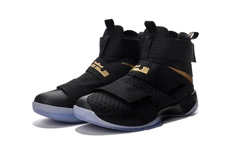 Nike Lebron Soldier 10 High Black Gold nike zoom lebron soldier 10 and high end sports