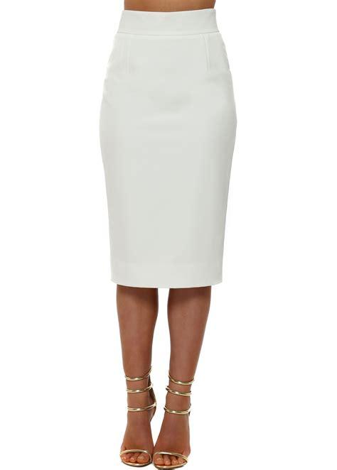 rhoades white pencil skirt