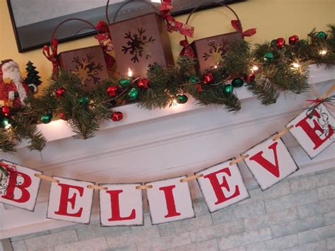 believe holiday decoration believe banner decorations vintage inspired banner banner