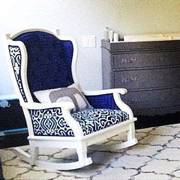 navy blue upholstered rocking chair 1000 ideas about vintage rocking chair on