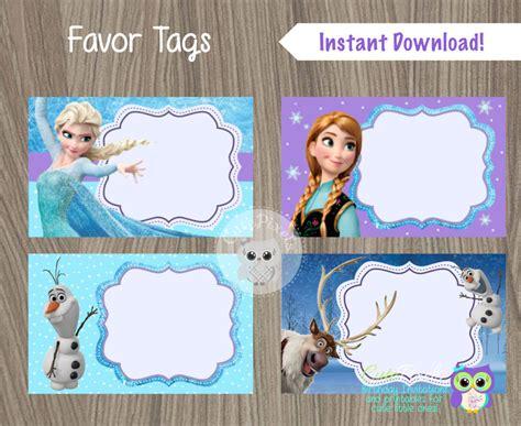 printable frozen gift labels frozen favor tags frozen name tags frozen favor labels