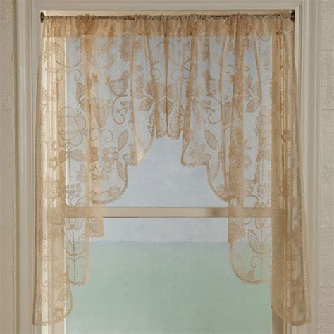 lace swag valance curtains long swag lace curtains rhapsody lace curtain panel