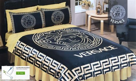 Versace Bedroom Bedding Set Queen Sheet Pillowcases Duvet Versace Bedding Sets