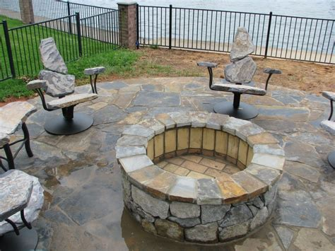 Hand Made Fire Pit Chairs By Stone Furniture Custommade Firepit Sales