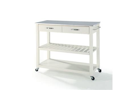 kitchen island cart stainless steel top stainless steel top kitchen cart island with optional
