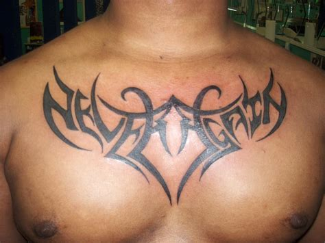 chest piece tattoo for men tribal tattoos and designs page 155