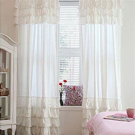 ruffle panel curtains white ruffle curtain