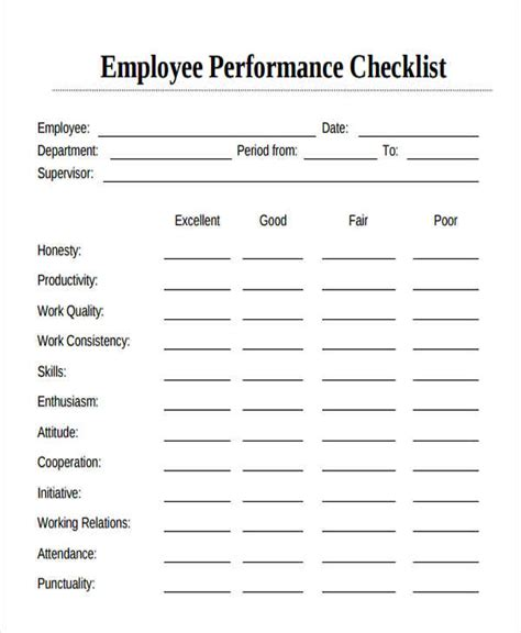 employee to do list template employee checklist templates 9 free sles exles