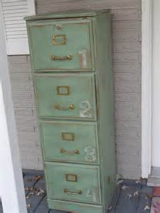 Vintage Wood File Cabinet Green Antiqued Wood File Cabinet
