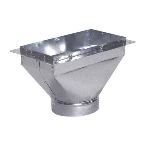 10 X 4 X 4 Box - 8 in x 4 in to 6 in register box with flange rbf8x4x6