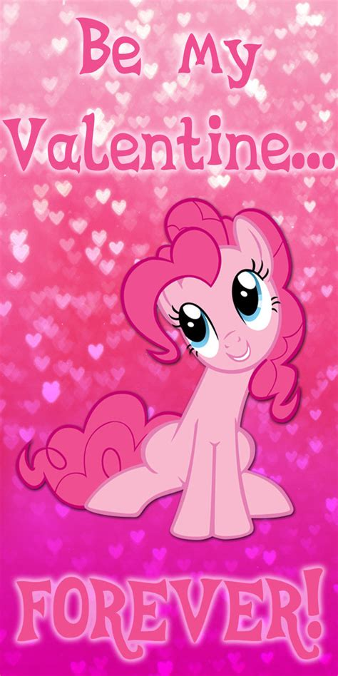 my pony valentines pinkie pie day card by kurenai hio