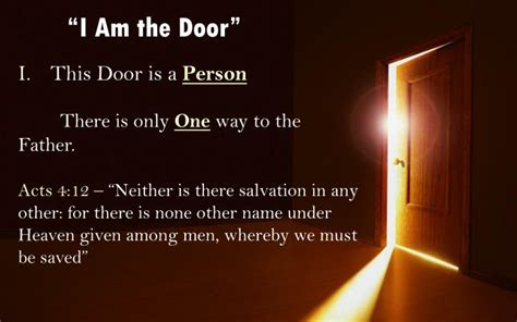 I Am The Door by Ppt I Am The Door 10 1 10 Powerpoint Presentation