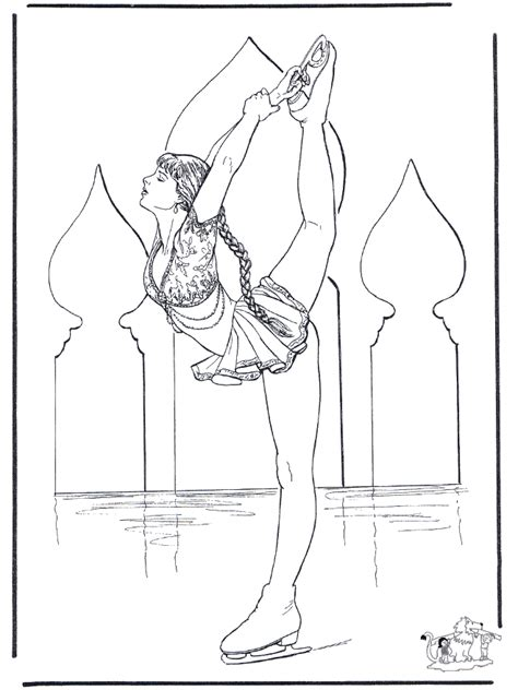 free coloring pages of ice skaters