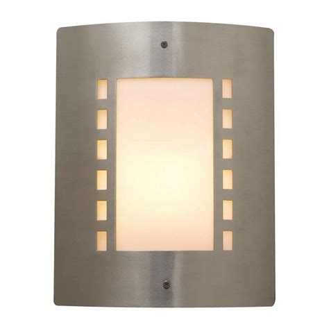 Nickel Wall Sconce Plc Lighting 1 Light Outdoor Satin Nickel Wall Sconce With Matte Opal Glass Cli Hd1873sn The
