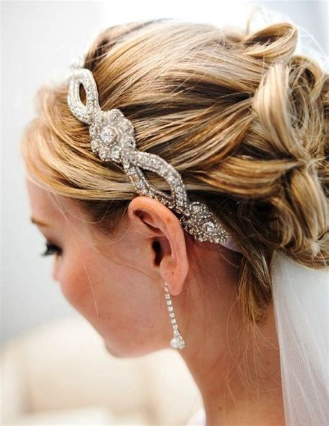 hairstyles with headband and veil wedding hairstyles updo and veil hair on pinterest
