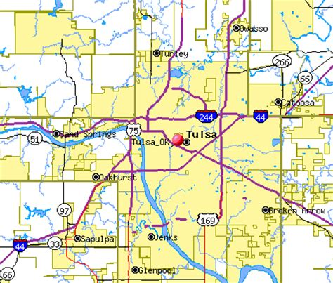 tulsa oklahoma ok profile population maps real image gallery tulsa map