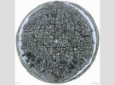 The Globe of New York - Original drawings, prints and ... New York Skyline Drawing Autistic