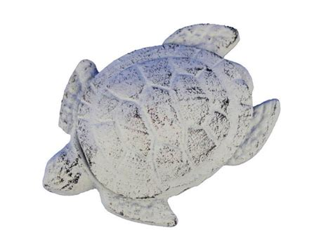 Cast Iron Decor Wholesale by Wholesale Whitewashed Cast Iron Decorative Turtle Bottle