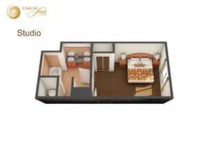 Bedroom Floor Planner Studio Suite At Club De Soleil