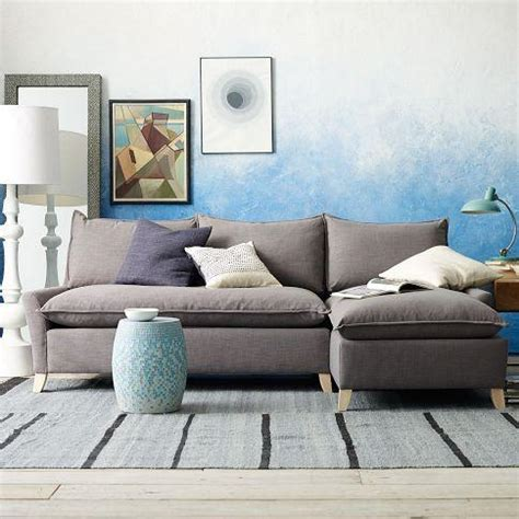 down filled sectional bliss down filled sectional west elm