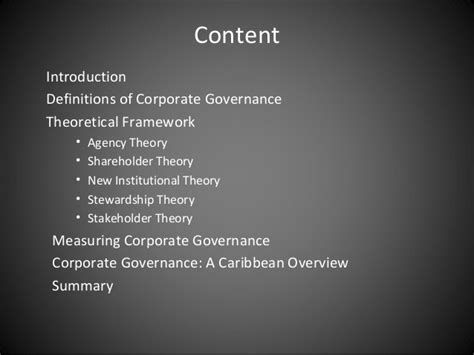 Mba Corporate Governance Notes by An Overview Of Corporate Governance