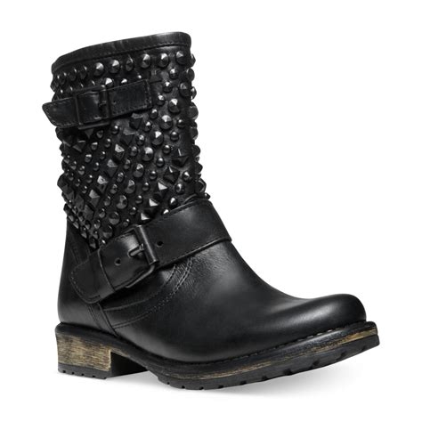 steve madden womens marcoo studded booties in black black